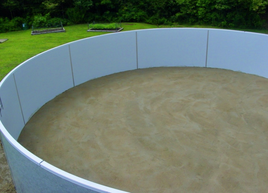 Install the pool wall
